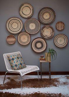 African Tonga basket – Interior of Africa Room Decor Bedroom, Diy Room Decor, Living Room Decor, Wall Decor, Dining Room, Home Decor, Wood Basket, Urban Rustic, Basket Decoration