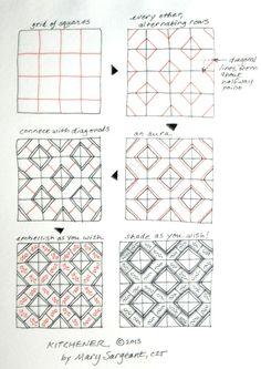 kitchener Zentangle pattern
