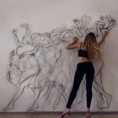 Lots of Movement with Multiple Exposures in one Drawing. To see more art and information about Zarah Abraham click the image.