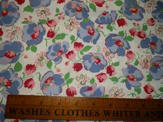 Vintage Quilt Fabric 35 Wide Gorgeous Floral by Expiali on Etsy, $12.00
