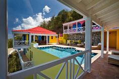 Experience the tropical colors of Villa MAT SUP in Tortola #wimco #caribbean #virginislands #travel #vacation