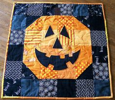 """These """"pictorial"""" quilts are simple---made from squares and half-square triangles, with fusible or traditional applique for facial features. Easy!"""