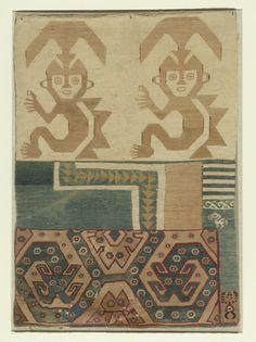 Tapestry Fragment (Primary Title) - - Virginia Museum of Fine Arts Large Tapestries, Tapestry, Peruvian Textiles, Patterns In Nature, Museum Of Fine Arts, Pattern Art, Geography, South America, Mystic