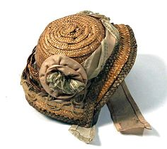 antique doll's bonnet in straw ... courtesy the Metropolitian Museum of Art costume collection