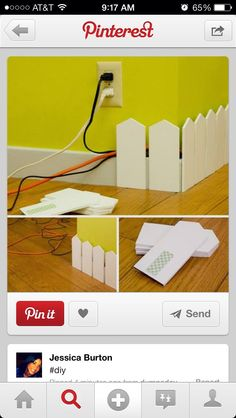 Neat Way To Keep Cords Out The Way
