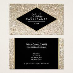 Champagne Gold Glitter and Glamour Business Card