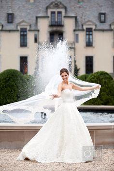 "Fun! How gorgeous. :) ""Outdoor Bridal Portrait Christian Oth"""