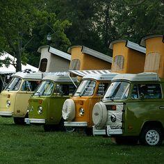 VW Campers. Yellow van was like mine.