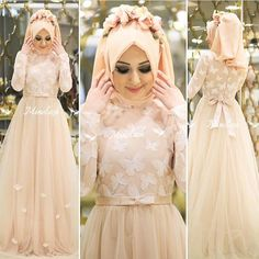 Kelebek abiye Minel aşk Bridal Hijab, Hijab Wedding Dresses, Wedding Bridesmaid Dresses, Wedding Wear, Wedding Bolero, Hijab Gown, Hijab Evening Dress, Hijab Style Dress, Muslim Fashion