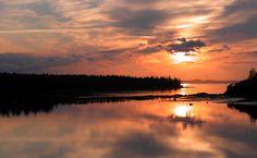 Sunset Deer Isle Village Maine