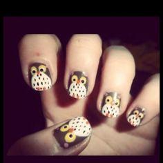 Insanely Cute Animal Nail Art cute owl nail art nail idea nail design Oh MY Goodness!cute owl nail art nail idea nail design Oh MY Goodness! Nail Art Cute, Owl Nail Art, Owl Nails, Animal Nail Art, Cute Nails, Pretty Nails, Owl Art, Neon Nails, Fall Nail Designs