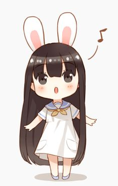 Que fofura! <(°~°)> Cute chibi girl.                                                                                                                                                                                 Mais