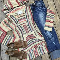 "389 Likes, 31 Comments - Davis Country Store ™ (@daviscountrystore) on Instagram: ""Poncho w/ stripes- $46.99 (S-L) Dear John distressed- $84.99 (24-33) Bed Stu sandals- $96.99 (6.5)…"""