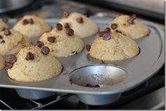 Peanut Butter Chocolate Chip Muffins, slightly healthier than the other recipe I posted! :)