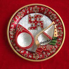Hand Decorated Pooja Thali for Diwali