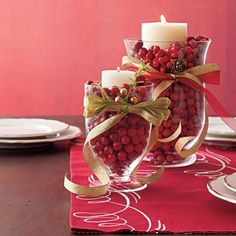 Don't spend a lot of money on a store-bought Thanksgiving centerpiece. Instead, make your own by using flowers, fruits and candles.
