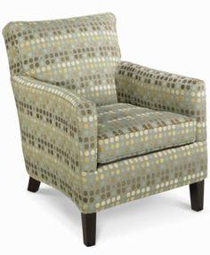 Seafoam Living Room Chair, Accent | macys.com