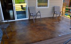 Acid Stained Patio after Sealing