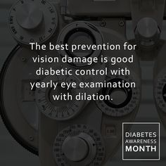 The best prevention for vision damage is good diabetic control.We recommend a yearly eye examination with dilation.If we detect signs of diabetic eye disease, more frequent visits and possible treatment may be needed. Don't wait for something minor to become something much worse. Let us help you with an action plan for your eye care.  READ MORE HERE https://www.linkedin.com/pulse/diabetes-eye-alison-ridenour