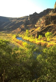 """Owyhee River, Oregon & Idaho - The name of the river is from the older spelling of """"Hawaii"""". It was named for three Hawaiian trappers, in the employ of the North West Company, who were sent to explore the uncharted river. They failed to return to the rendezvous near the Boise River and were never seen again. Due to this the river and its region was named """"Owyhee""""."""