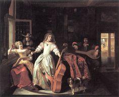 Happy drinker - Pieter de Hooch - WikiArt.org