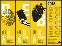 Irakurpuntuak eta 2016rako Legazpiko Udal Liburutegiko egutegia / Marcapáginas y calendario para el 2016 de la Biblioteca Pública de Legazpi