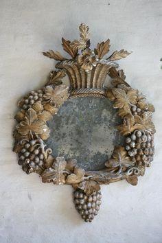 Antique Carved Mirror (17th Century)