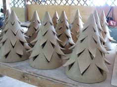 News From The Workshop: Yuko's Christmas Tree Nom Living Yuko Christmas Tree Unglazed Ceramic Christmas Decorations, Ceramic Christmas Trees, Christmas Christmas, Tree Decorations, Christmas Wreaths, Xmas, Holiday, Hand Built Pottery, Slab Pottery