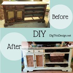 What a DIY transformation. This cabinet was thrown out on the side of the road, look at it NOW!