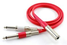 "CablesOnline 3ft Ultra Flex 1/4inch TRS Stereo Female Jack to Dual 1/4inch TS Mono Male Plugs Cable, Red by CablesOnline. $14.95. This cable allows you to interface between 1/4"" Stereo and 1/4"" Mono, so you can connect between speakers and audio devices that don't have the same connection types. This solidly constructed male to dual male connectors feature an ultra flexible red jacket for maximum convenience.. Save 63%!"