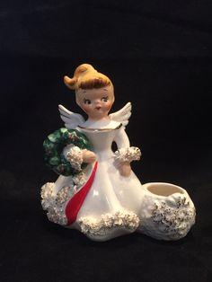 Vintage Christmas Angel Candleholder