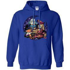 anime Moon vampires Halloween cake stars witch candies anime girls crescent moon The Witch's Tale -01 Pullover Hoodie 8 oz