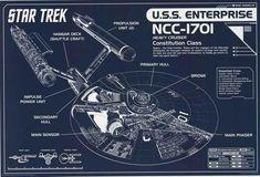 Star Trek USS Enterprise Blueprint Poster 24x36 – BananaRoad