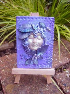 ACEO  Polymer Clay aceo Goddess altar tile by TheCaterpillarQueen, £14.75