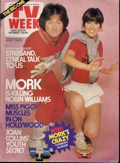 1979 ~ TV WEEK Magazine  *  Robin Williams & Pam Dawber ~ Mork & Mindy