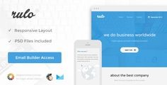 Rulo - Responsive Email + Themebuilder Access   http://themeforest.net/item/rulo-responsive-email-themebuilder-access/8542244?ref=damiamio           Features    Responsive Layout   Drag and drop Builder Acess included   Unlimited colors shema   Unlimited Variations  Inline Css and optimized code  Fully Layered PSD included   MailChimp Ready Template  Campaign Monitor Ready Template  HTML without tags version  Major Email Client Support   Documentation Included    Files Included    Template…