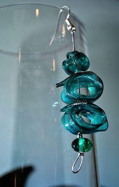 plastic bottle earring