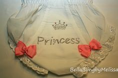 Bling Princess Diaper Cover Swarovski by BellaBlingbyMelissa Baby Bling, Bling Bling, Identical Twins, Kids Patterns, Mixed Babies, Twin Girls, Pattern Design, Swarovski Crystals, Bows