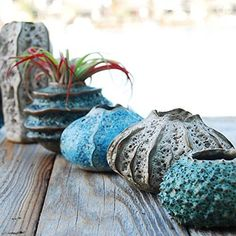 BloomyLife-Handmade-Porcelain-Ceramic-Flower-Pots-Planter-Pots-Aqua-Coral