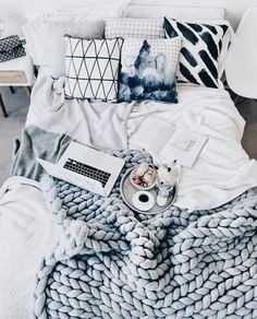 If you have ever thought about redecorating your bedroom or dorm, and tried to find some options online, chances are good that, at some point, you've come Dream Rooms, Dream Bedroom, Master Bedroom, Pretty Bedroom, Teen Bedroom, Tumblr Bedroom, Room Goals, Bed Goals, Deco Design