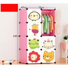 8 Cube Portable D.Y Closet Cabinet Wardrobe for Children and Kids Take Apart, Put Together, Child's Room, Your Child, Cube, Eco Friendly, Kids Room, Plastic, Cartoon