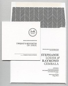 This clean and modern invitation is by Bella Figura