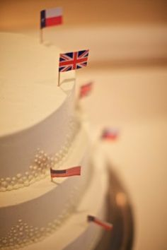 Tiered Wedding Cake by Madison Club Pastry Kitchen #heritage #flags
