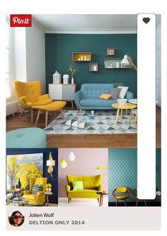 Interieur Blauw/ Geel
