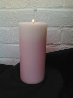 White and pink rose scented 'keep me' pillar candle with 2 scented t lights  £9.00