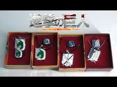 Attack on Titan Four Necklace and Ring Sets:  http://youtu.be/iu3zR7aDo-c