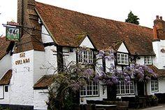 """Bull Inn, Sonning-on-Thames, Berkshire, England.  """"A short stroll away from the Thames""""."""