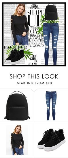 """""""Modee"""" by merima-699 ❤ liked on Polyvore featuring MANGO, J Brand, WithChic and Oris"""