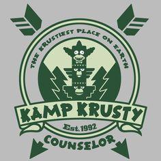 """Kamp Krusty"" by Baz is $10 today at ShirtPunch.com (08/14). #tshirt…"