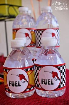 drinks at a race car birthday party #drinks #racecar #car #party